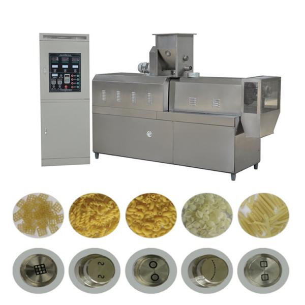 Double Screw Breakfast Cereal Corn Pellet Frying Choco Chips Pan Puff Snacks Cheese Ball Artificial Rice Soyabean Protein Bread Food Processing Making Machine